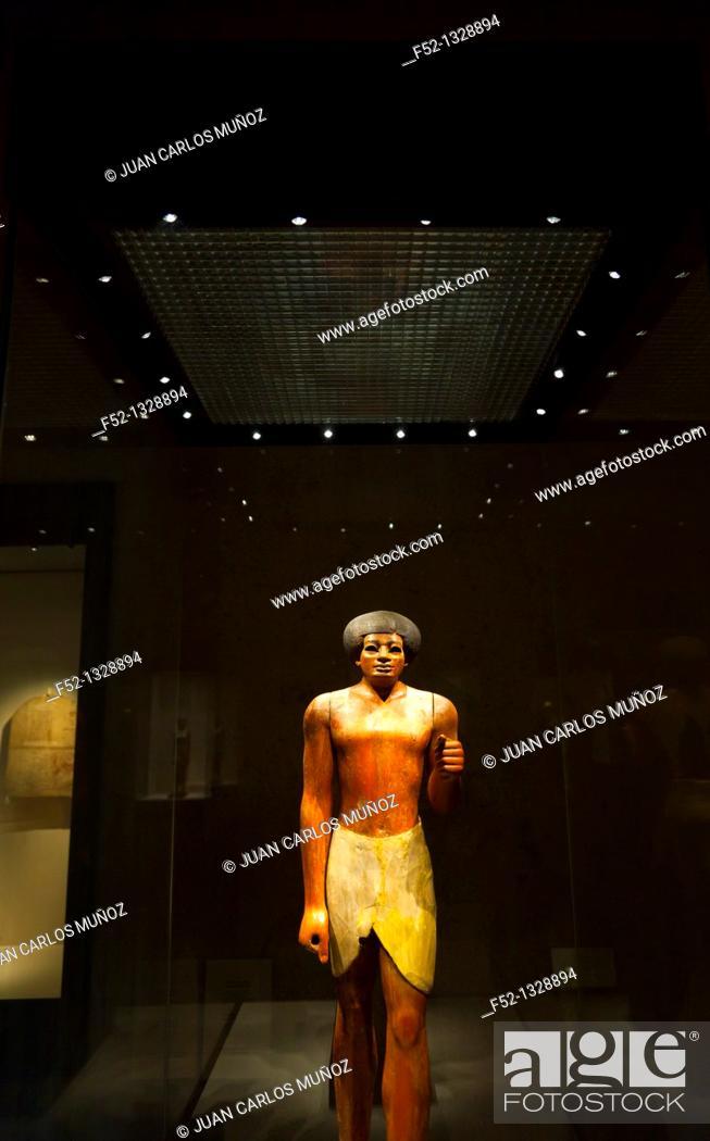 Stock Photo: Egyptian art in the Gulbenkian Museum, Lisbon, Portugal.