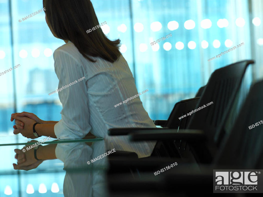 Stock Photo: Woman in a meeting room.