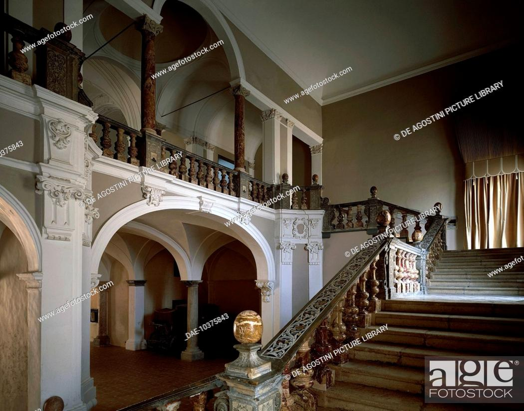 Stock Photo: View of the interior of Pepoli Palace, Trapani, Sicily, Italy.