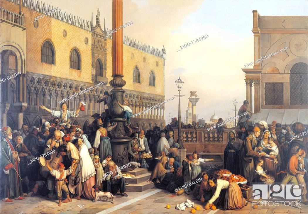 Extraction of a Lottery in Saint Marc Square (Estrazione del lotto ...
