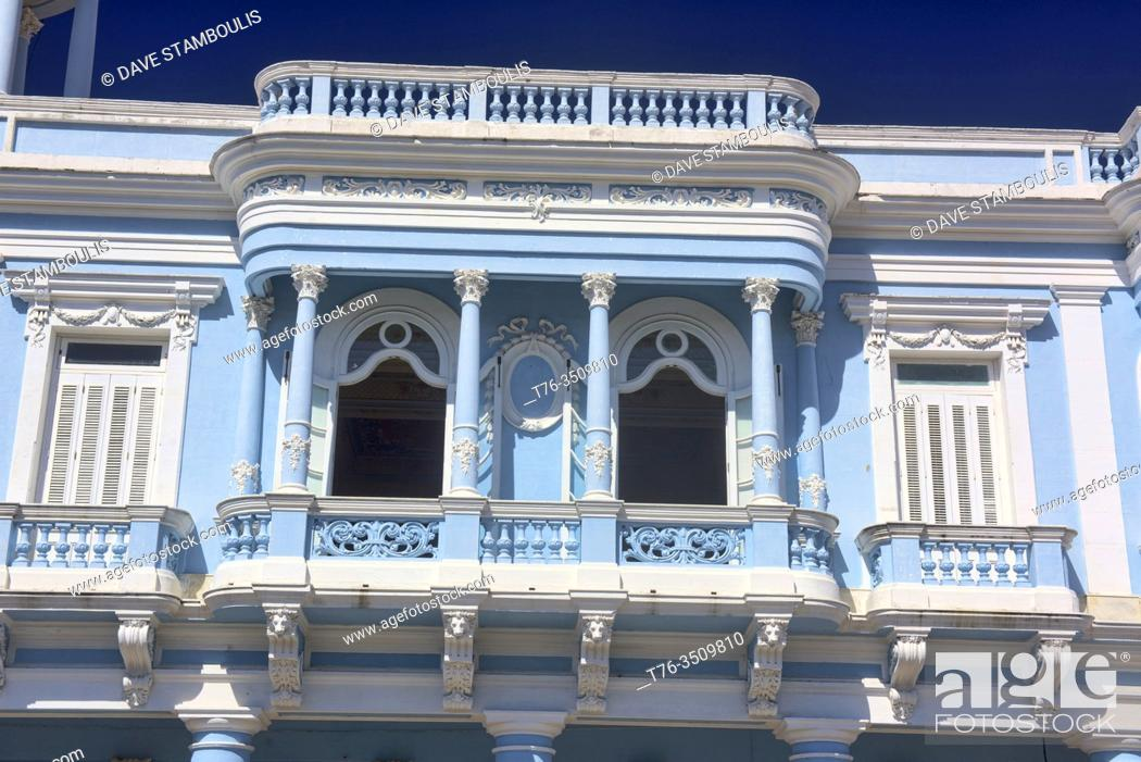 Stock Photo: Neoclassical colonial architecture, Ferrer Palace, Cienfuegos, Cuba.