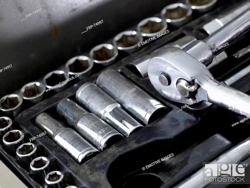 Stock Photo: Socket driver set.