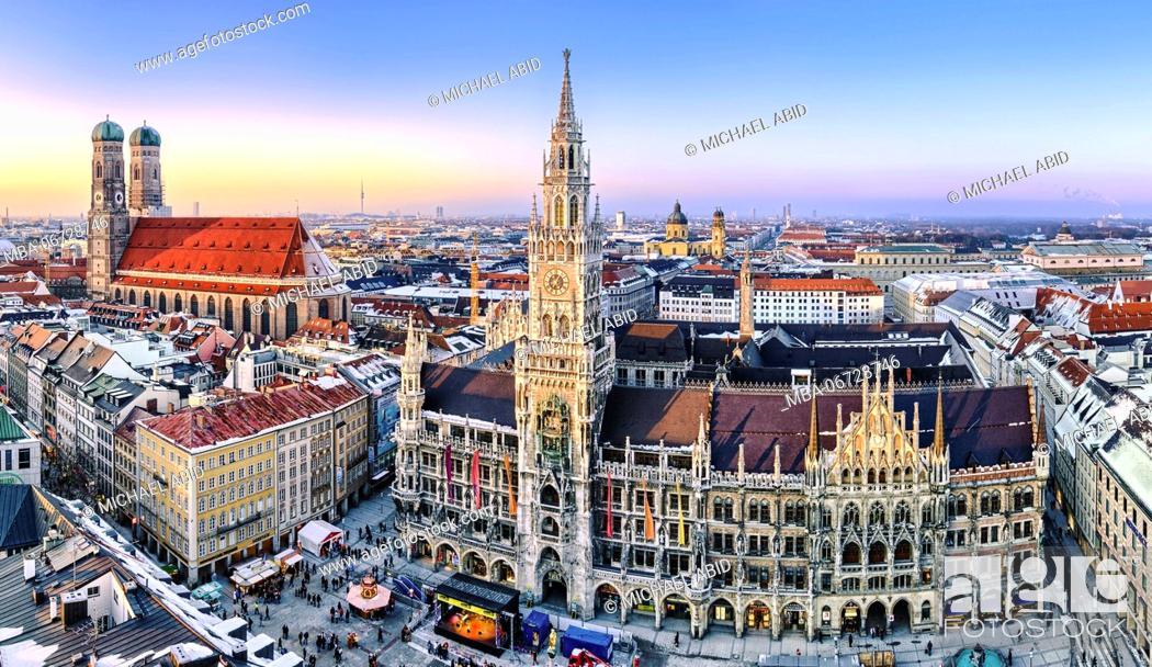 Stock Photo: Panorama view of Munich city center.