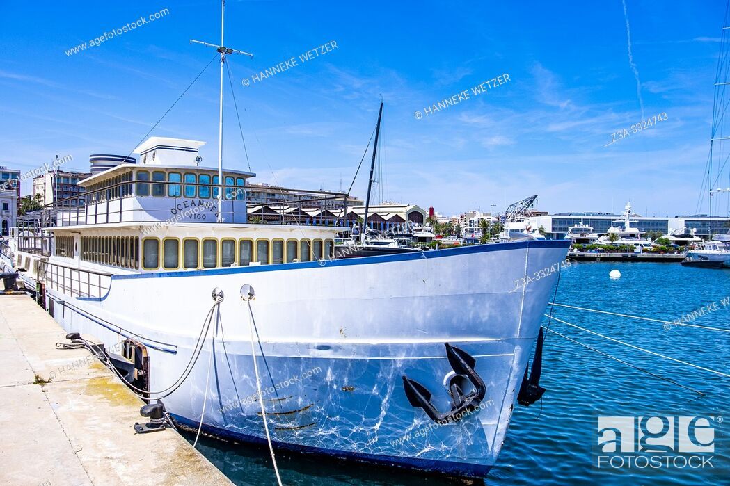 Stock Photo: Port of Valencia, Spain, Europe.