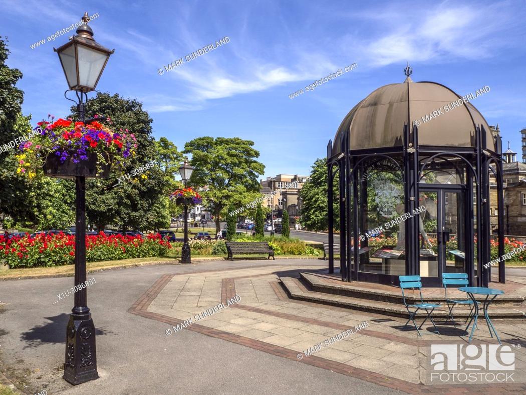 Stock Photo: Rotunda in Crescent Gardens in summer Harrogate North Yorkshire England.