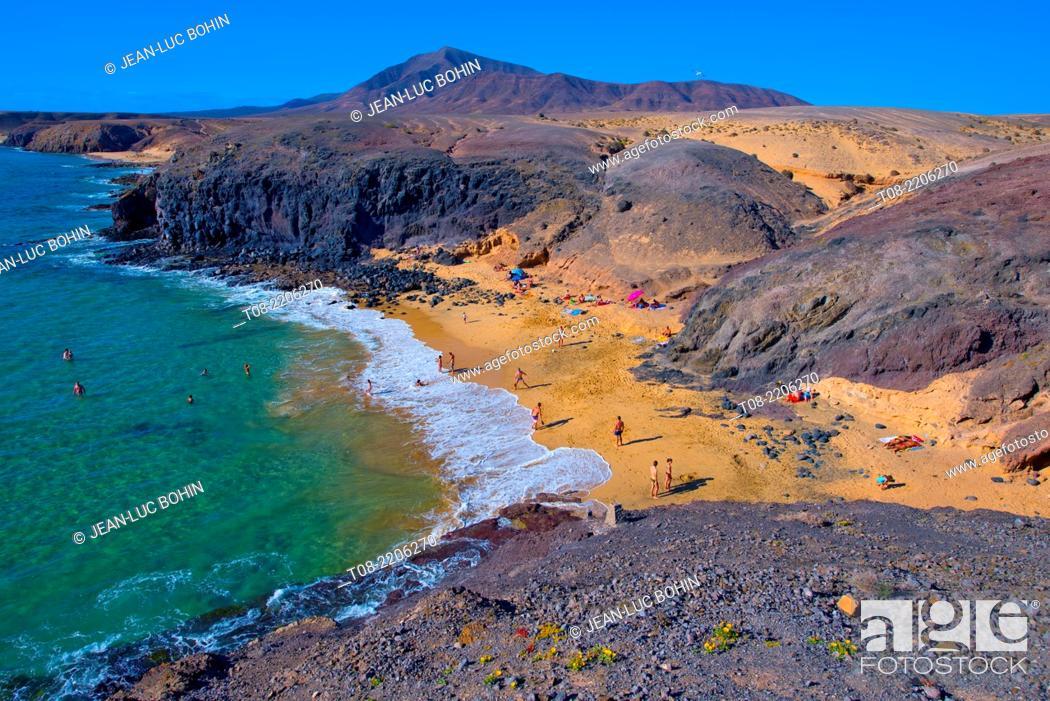 Imagen: spain, canary islands, lanzarote : pozo beach.