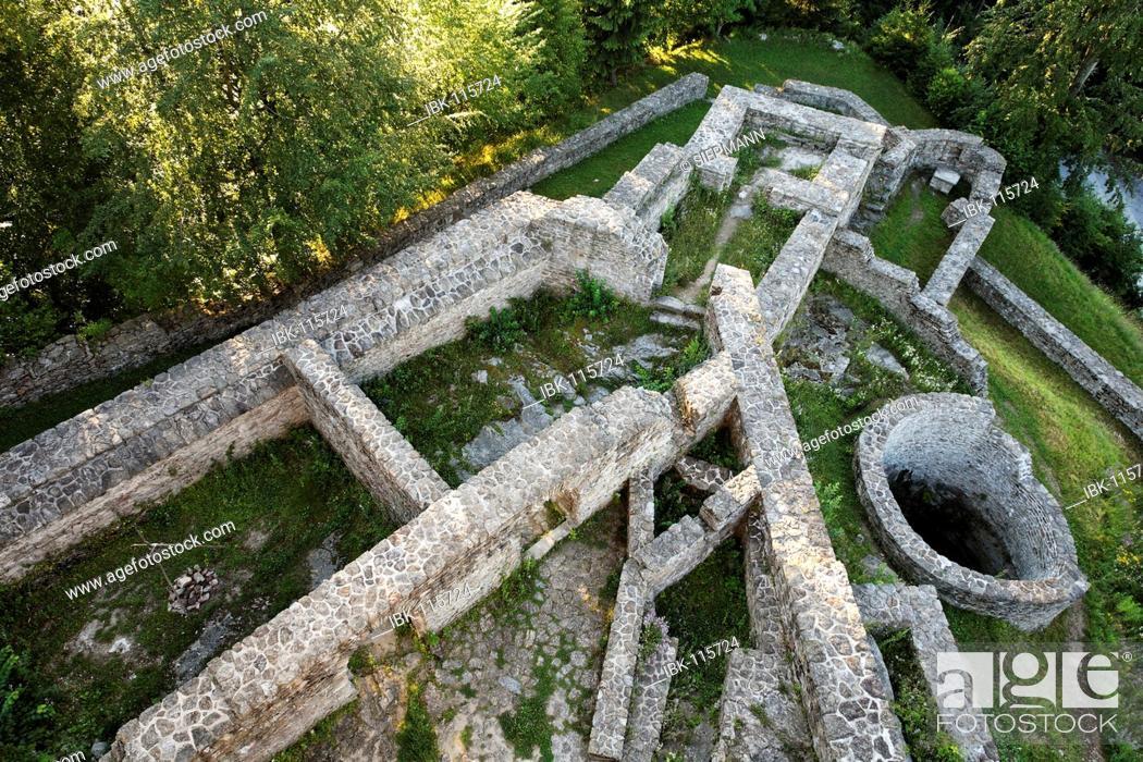 Stock Photo: Altnussberg castle near Geiersthal, Bavarian Forest Bavaria Germany.
