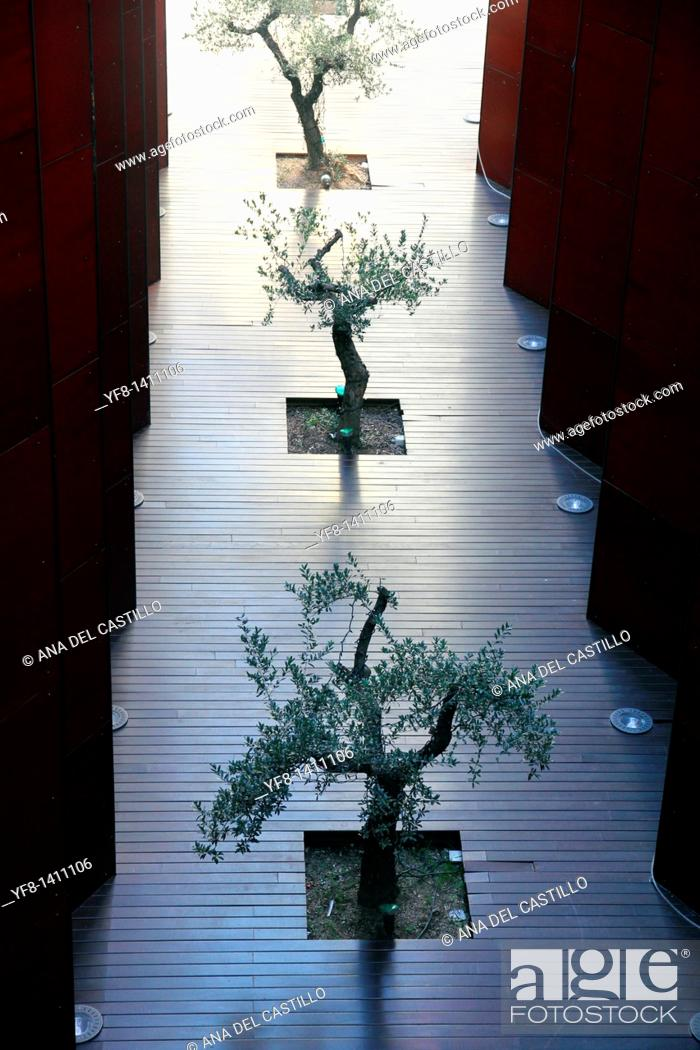 Stock Photo: Indoor decoration with plants hotel in Andorra country.