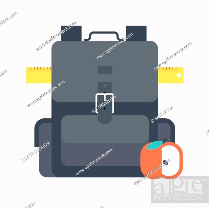 back to school theme flat style colorful vector icon for info
