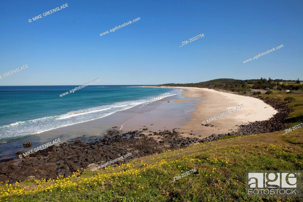 Stock Photo: Sharpes Beach, Ballina, NSW, Australia.