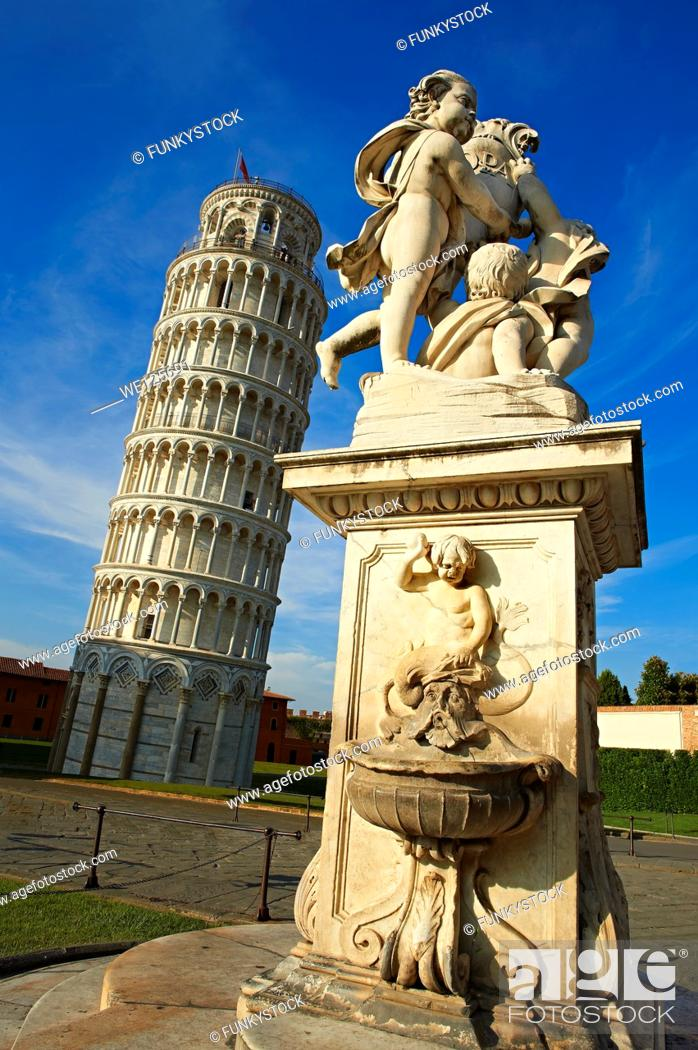 Stock Photo: The Leaning Tower Of Pisa, Italy.