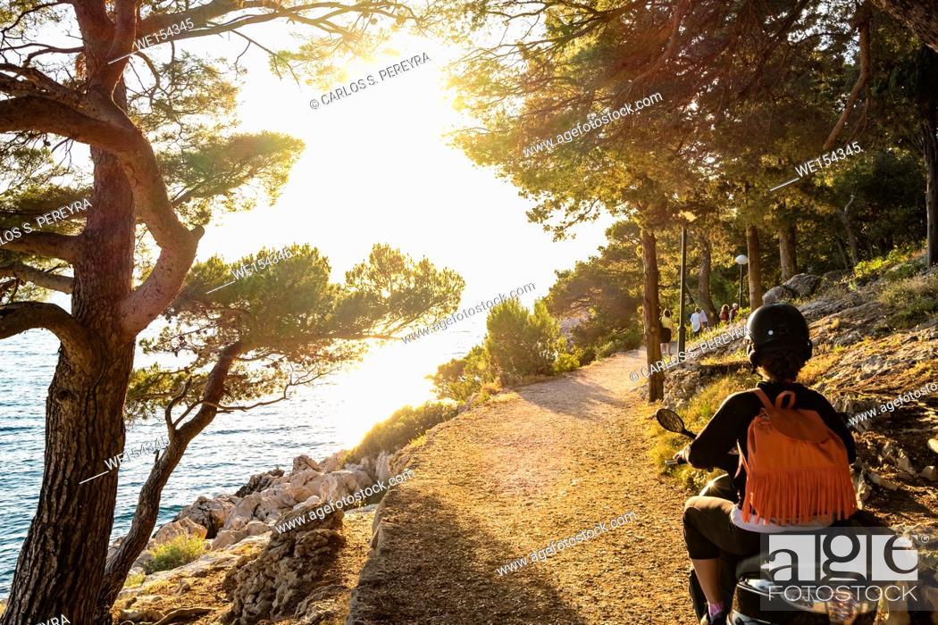 Stock Photo: Park suma sveti Petar in Makarska Rivera in Croatia Europe.