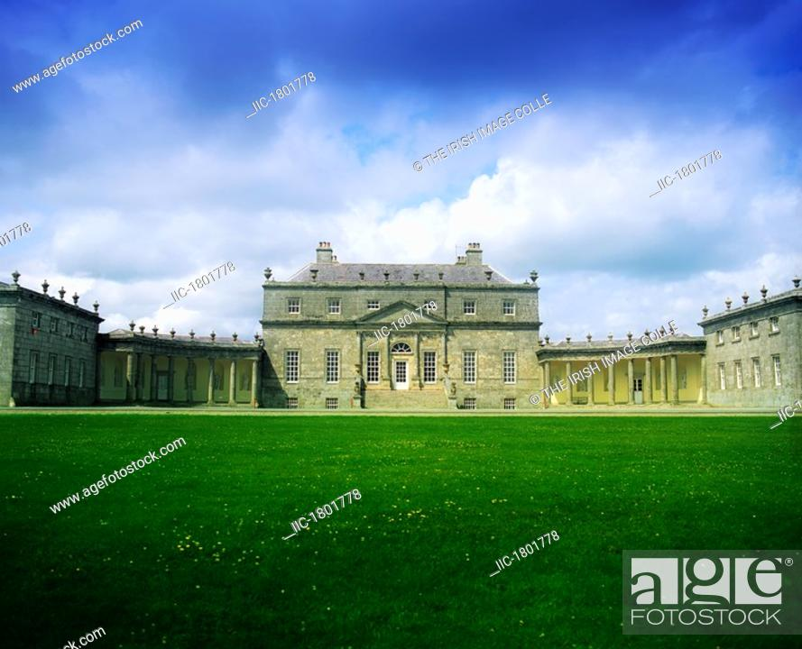 Stock Photo: Co Wicklow, Russborough House, Richard Cassels 1741,.