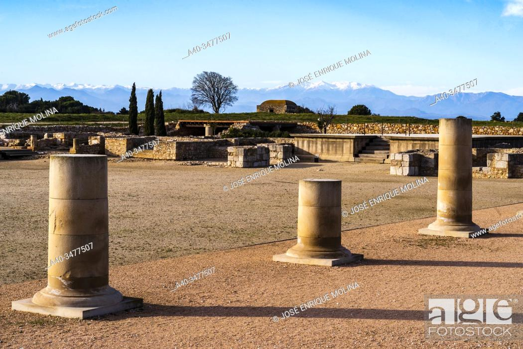 Imagen: Greek / Roman archeological site of Ampuries, Girona, Catalonia, Spain.