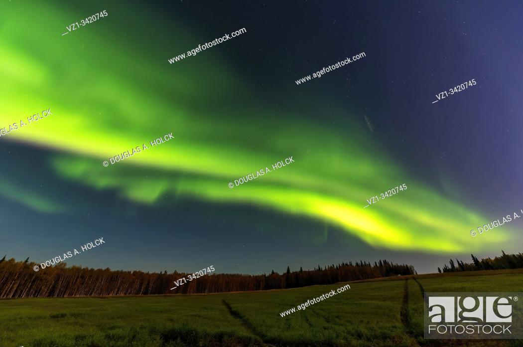 Stock Photo: Aurora Borealis 3 Fairbanks Alaska USA.