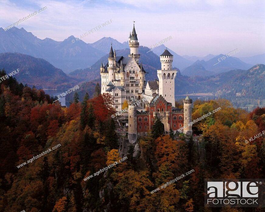 Stock Photo: Neuschwanstein Castle. Bavaria, Germany.