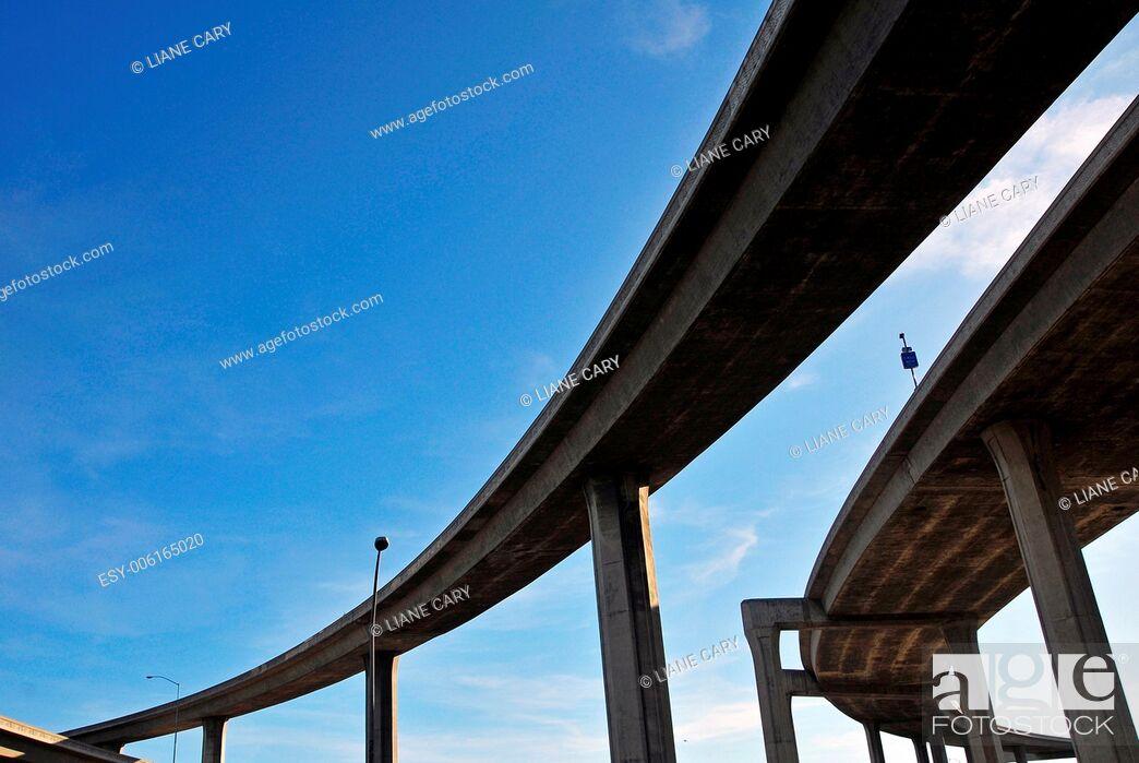Stock Photo: abstract LA freeway.