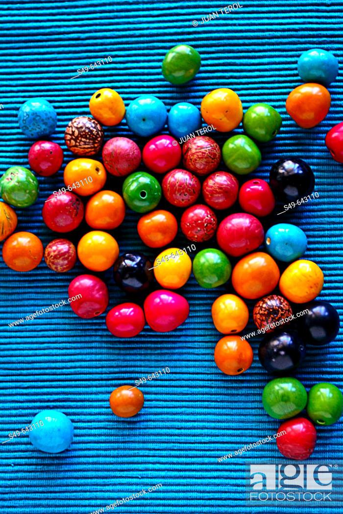 Stock Photo: Bone Beads.
