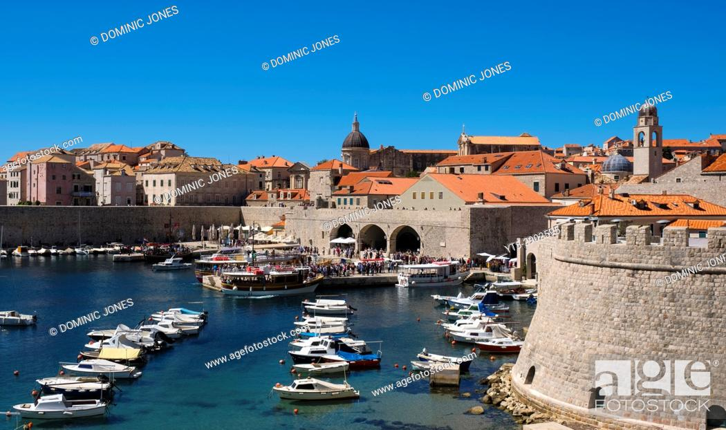 Stock Photo: The Old City Port, Dubrovnik, Croatia, Europe.