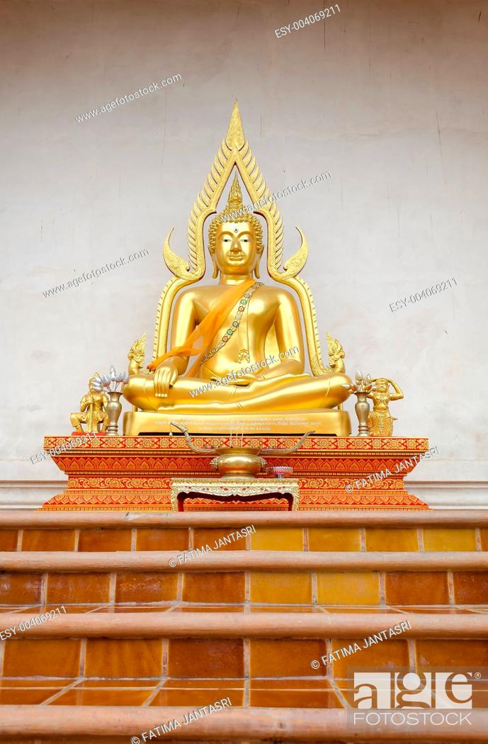 Stock Photo: Buddha sculpture at Chiangmai Temple Thailand.