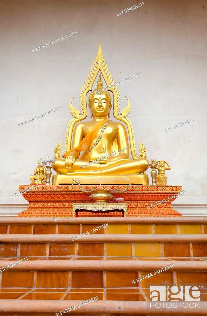 Stock Photo: Buddha sculpture at Chiangmai Temple Thailand.
