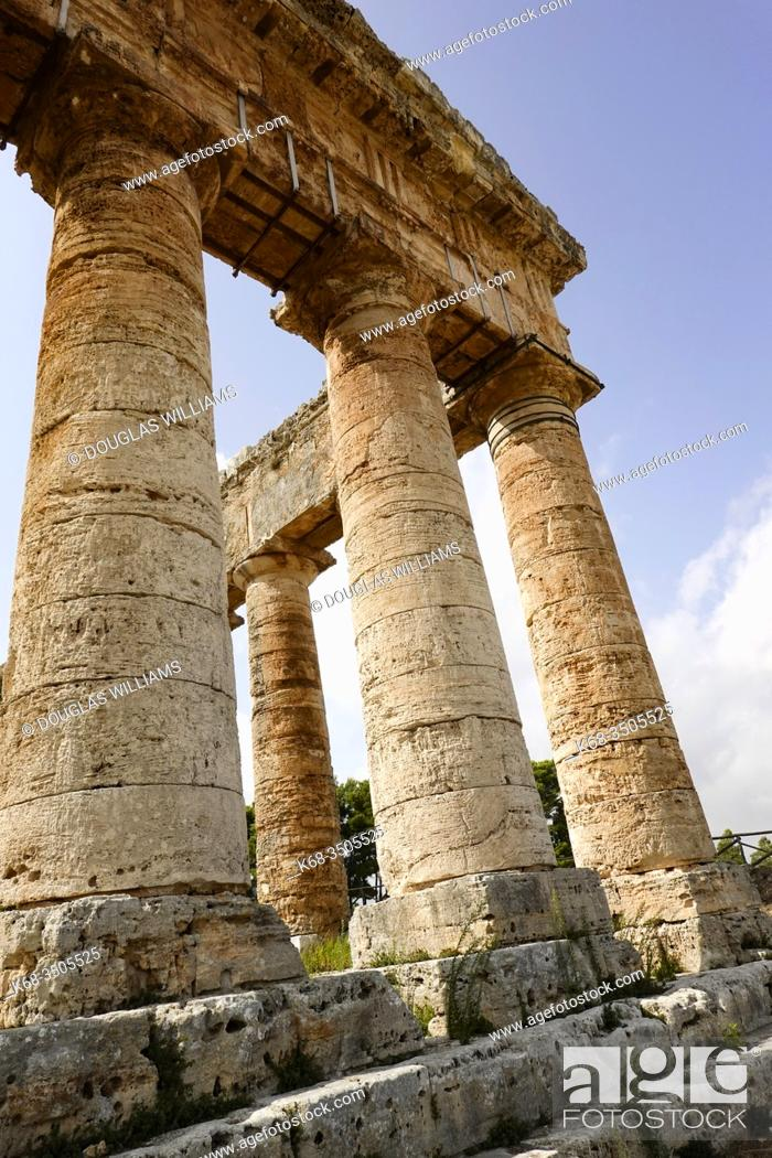 Stock Photo: Ancient Greek temple at Segesta, Sicily, Italy.