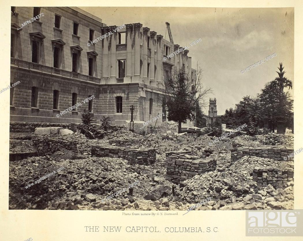 Stock Photo: The New Capitol, Columbia, SC - 1865 - George N. Barnard American, 1819–1902 - Artist: George N. Barnard, Origin: United States, Date: 1865.