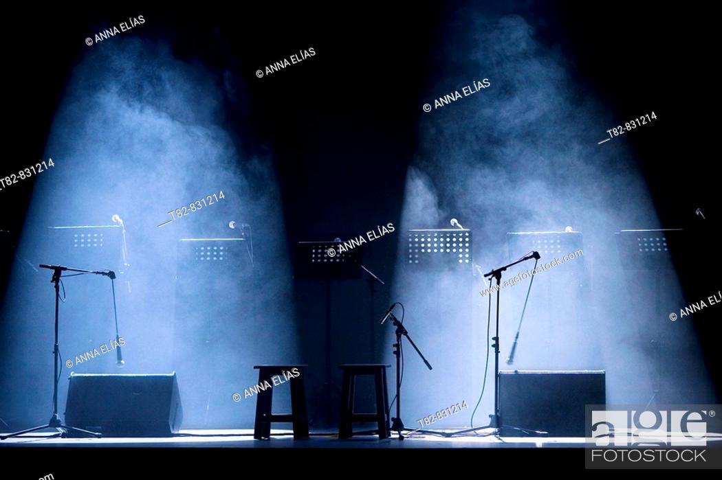 Stock Photo: Stage. Teatro Lope de Vega, Sevilla, Andalucia, Spain.