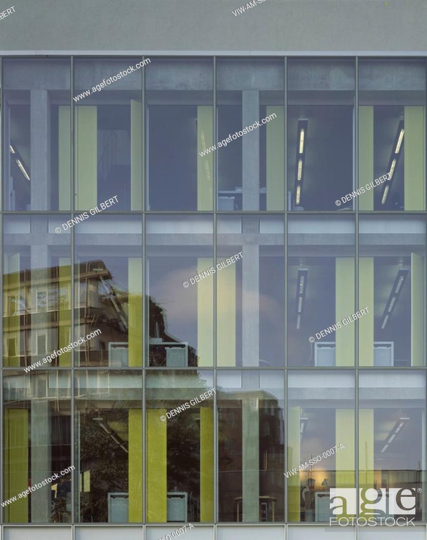 Stock Photo: ALLIES & MORRISON OFFICES, SOUTHWARK STREET, LONDON, SE1 SOUTHWARK + BERMONDSEY, UK, ALLIES & MORRISON ARCHITECTS, EXTERIOR, SOUTHWARK STREET ELEVATION.