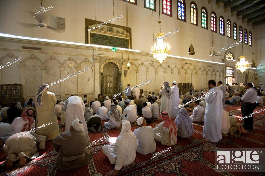 muslim men at prayer salah muslim prayer in umayyad mosque