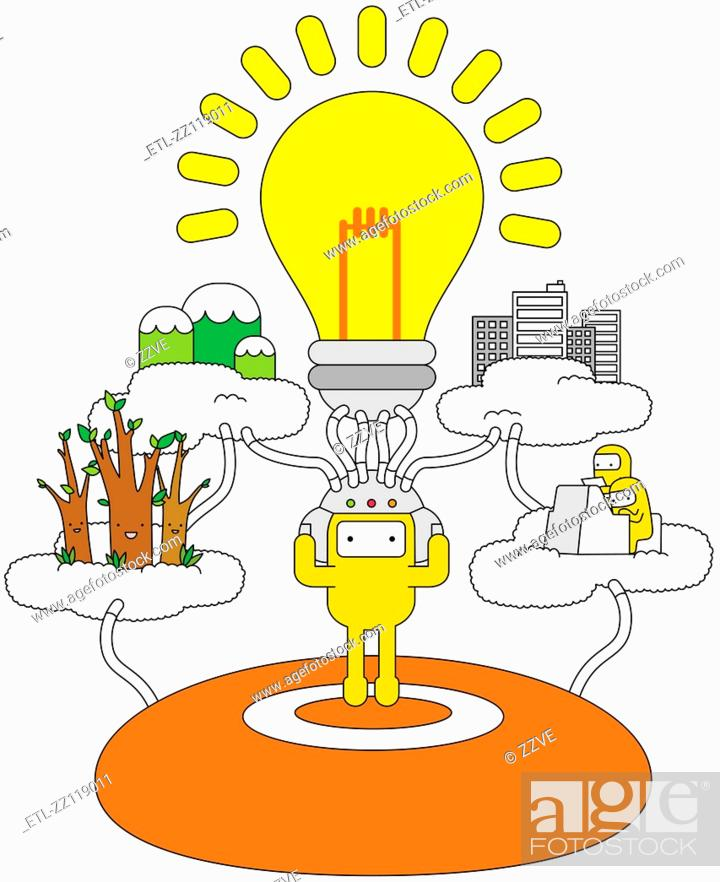 Stock Photo: Idea World.