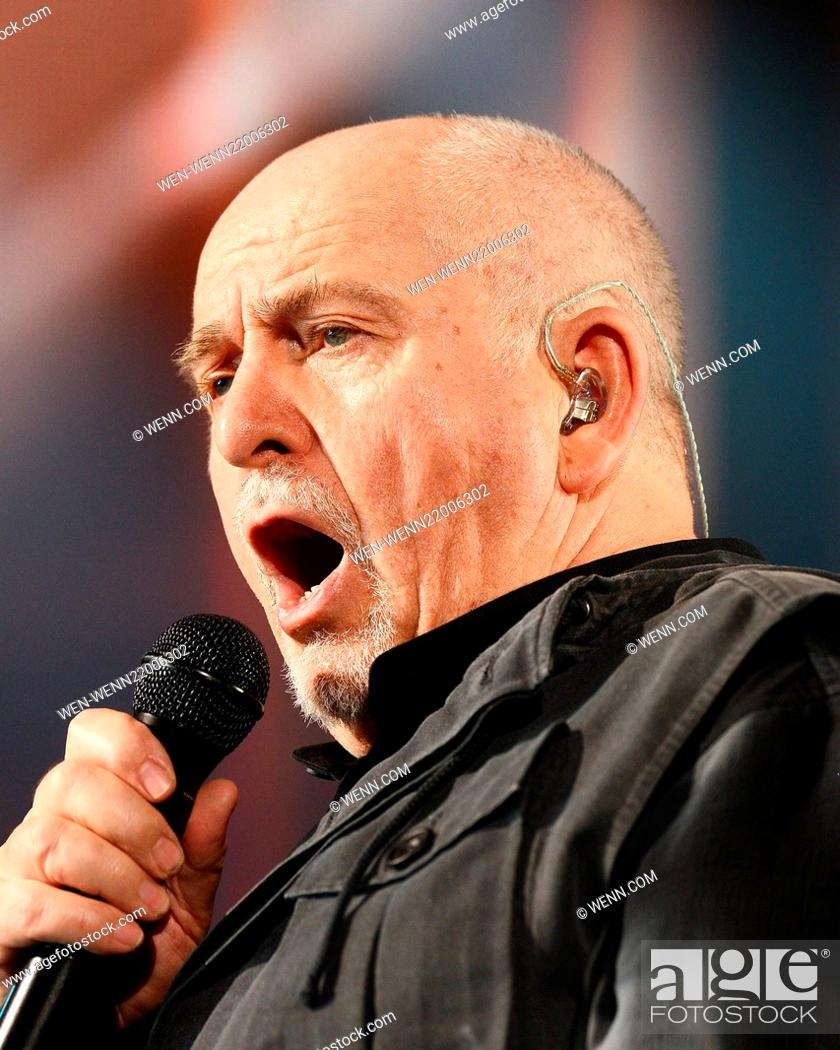 Peter Gabriel performs at the 3Arena, Dublin, Ireland