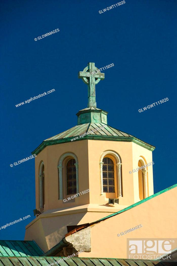 Stock Photo: High section view of a church, Miami, Florida, USA.