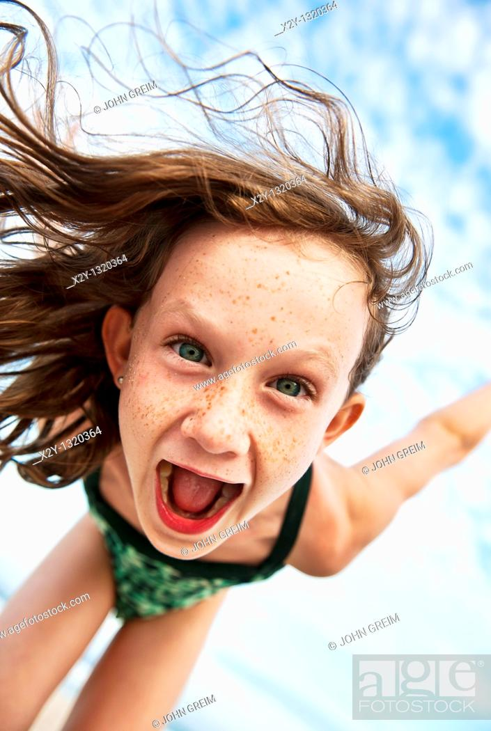 Stock Photo: Young girl at the beach.