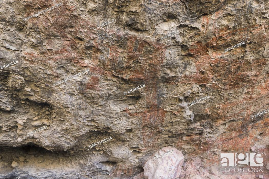 Imagen: Central America, Mexico, Baja California Sur, Sierra San Francisco, The Cueva del Ratón, cave paintings.