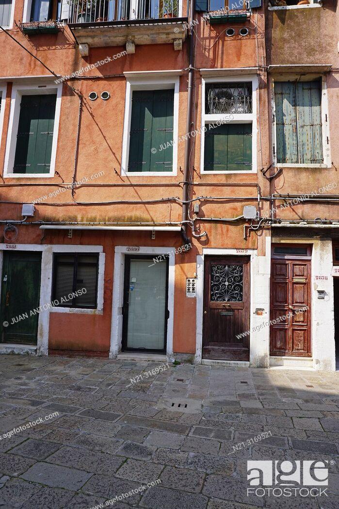 Stock Photo: The Jewish Ghetto, Cannaregio Sestiere. Venice, Veneto, Italy, Europe.
