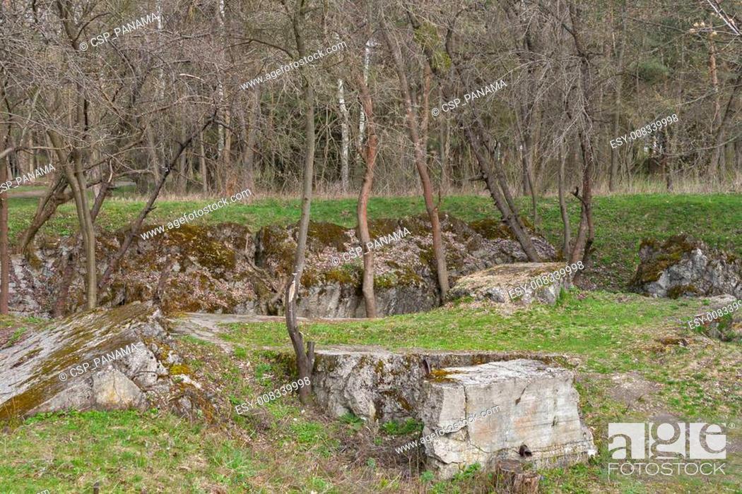 Stock Photo: Remains of Adolf Hitler residence Werwolf.