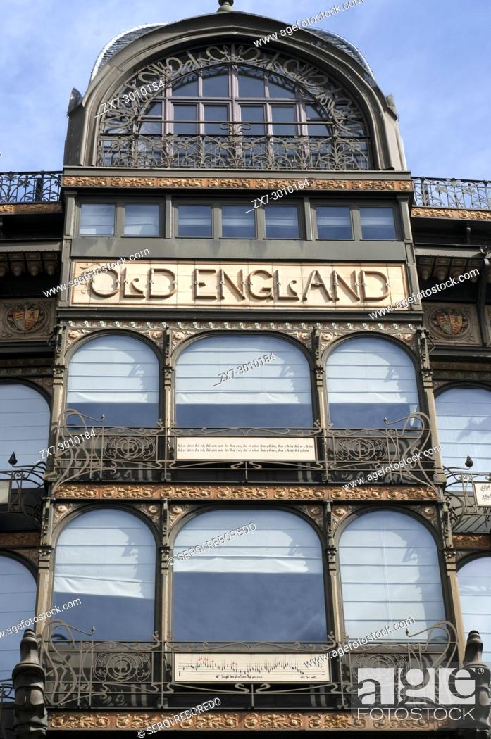 Stock Photo: The Old England houses the Musical Instrument Museum, Brussels, Belgium.