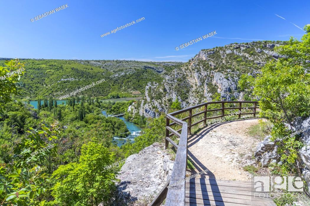 Stock Photo: Roški Slap, Krka National Park, Bogatic, Sibensko-Kninska, Dalmatia, Croatia, Europe.