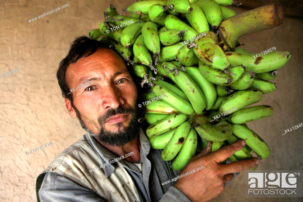 Stock Photo: banana wholesale in Afghanistan.