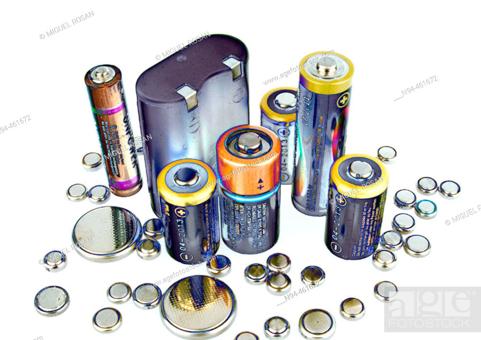 Stock Photo: Bodegón batteries varied.