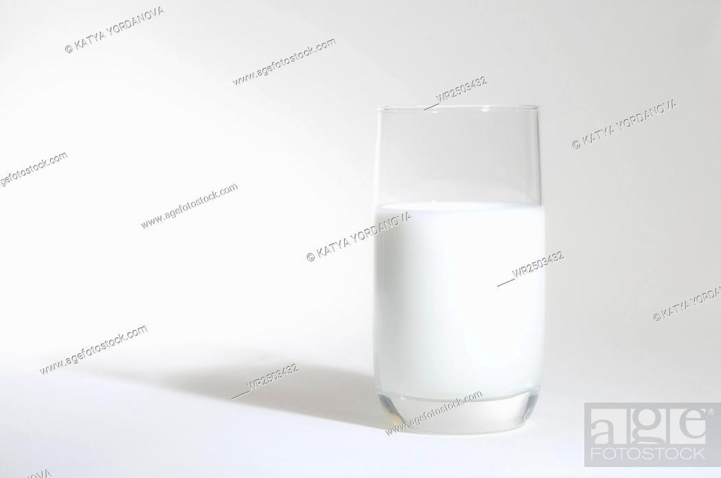 Stock Photo: Glass of milk.