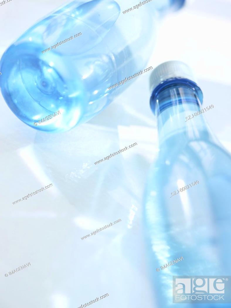 Stock Photo: Bottles of water.