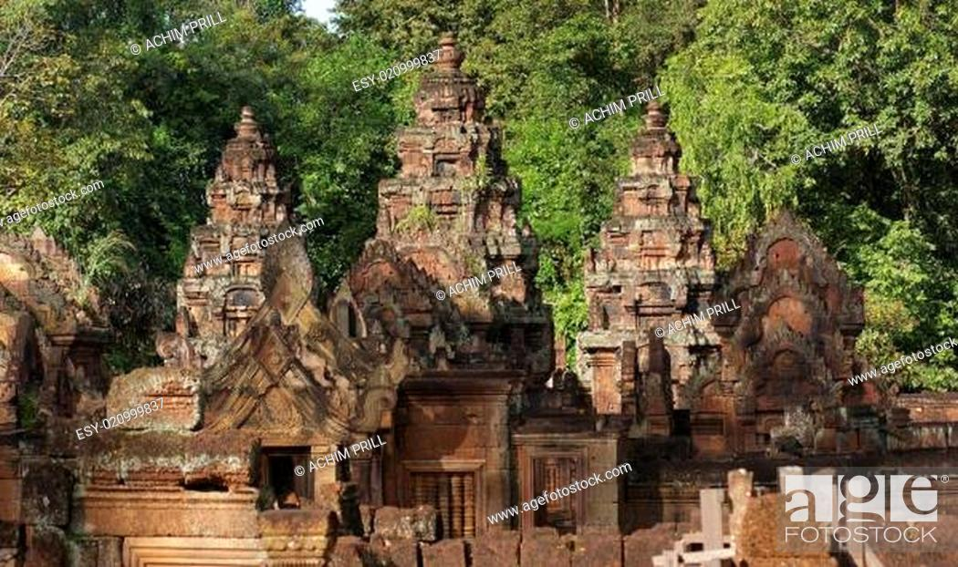 Stock Photo: Banteay Srei.