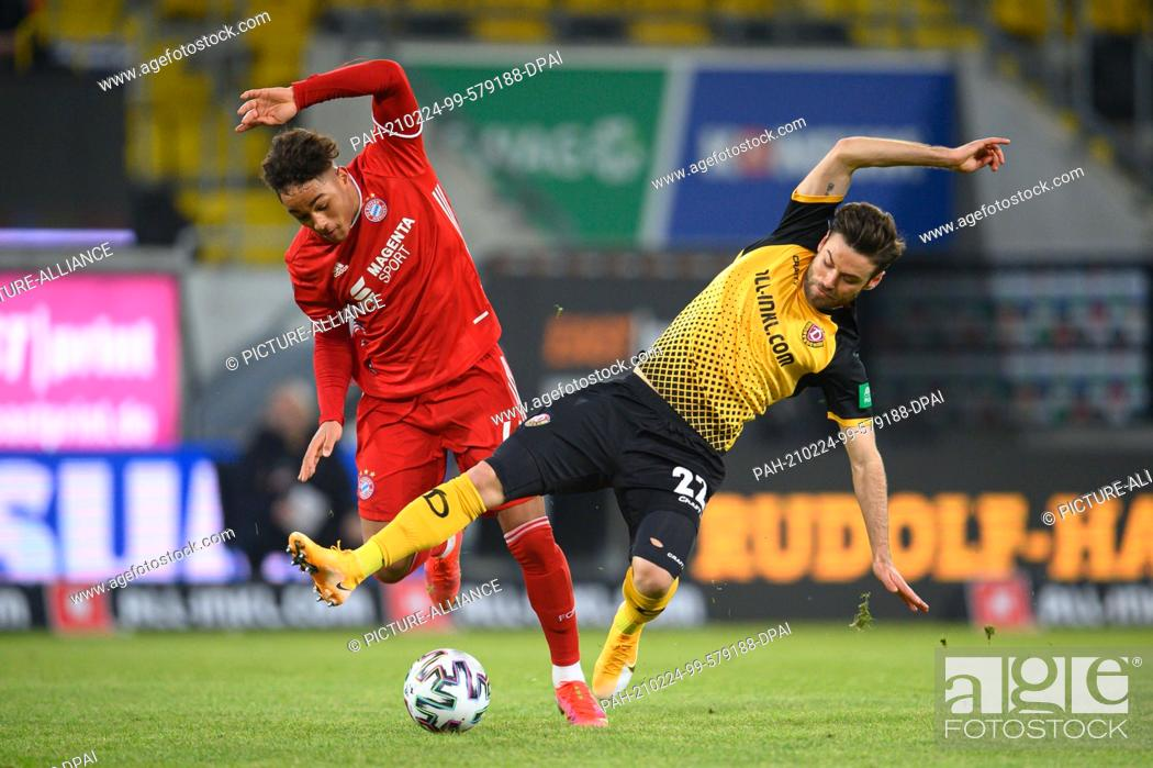 Imagen: 24 February 2021, Saxony, Dresden: Football: 3. league, SG Dynamo Dresden - Bayern München II, 22. matchday, at Rudolf-Harbig-Stadion.