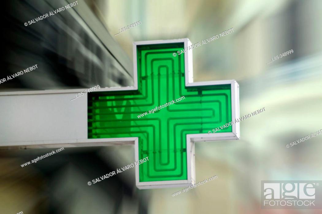 Stock Photo: Cross sign, chemist.