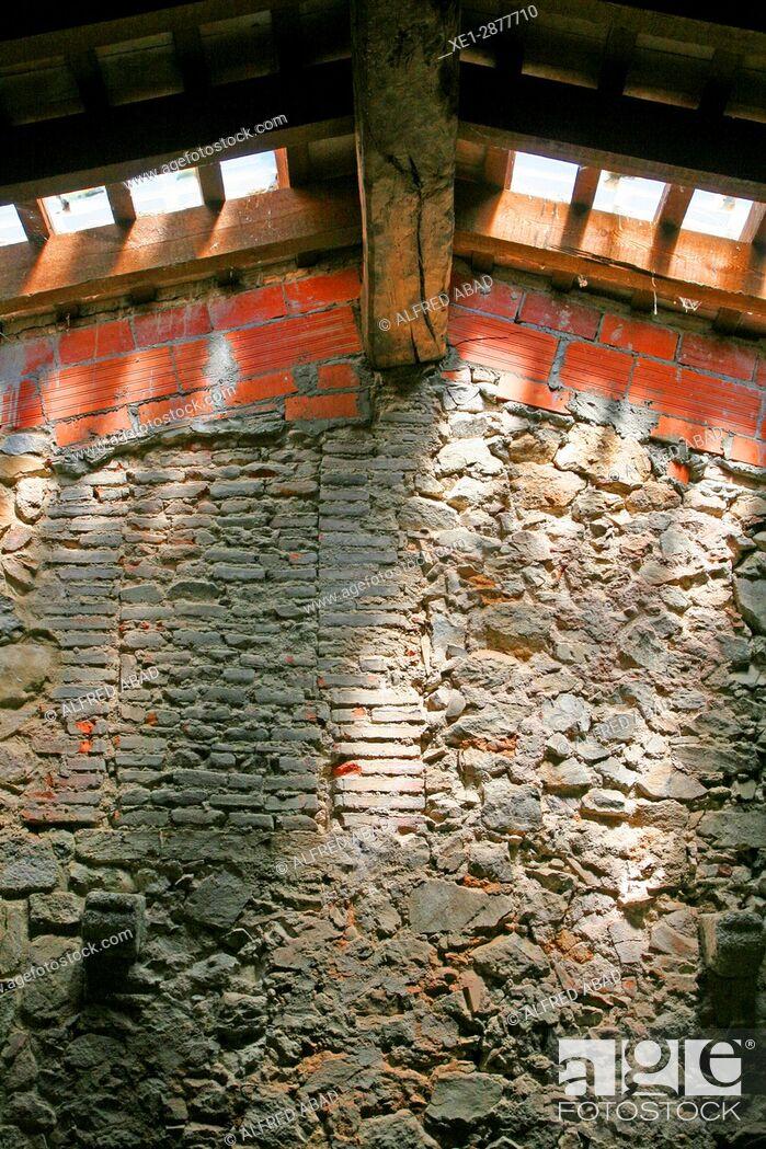 Stock Photo: Interior of the house Can Vilallonga, Les Gavarres, Girona, Catalonia, Spain.