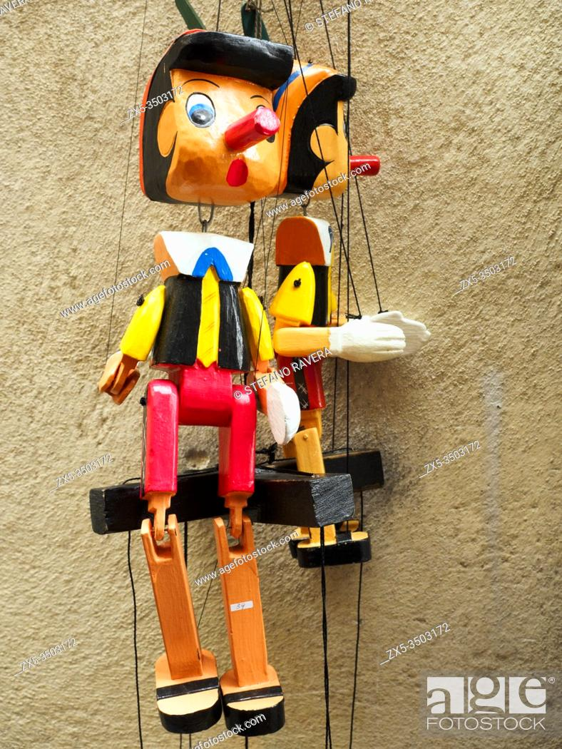 Stock Photo: Pinocchio puppet in the City of Siena - Tuscany, Italy.