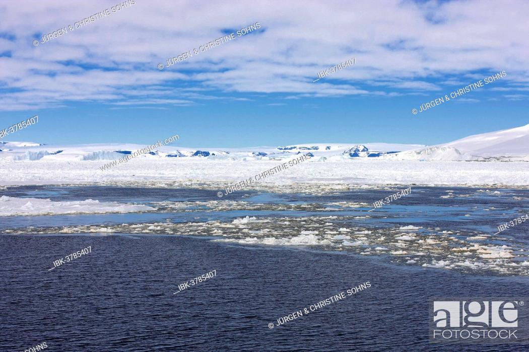 Imagen: Icy landscape, pack ice, Weddell Sea, Antarctica.