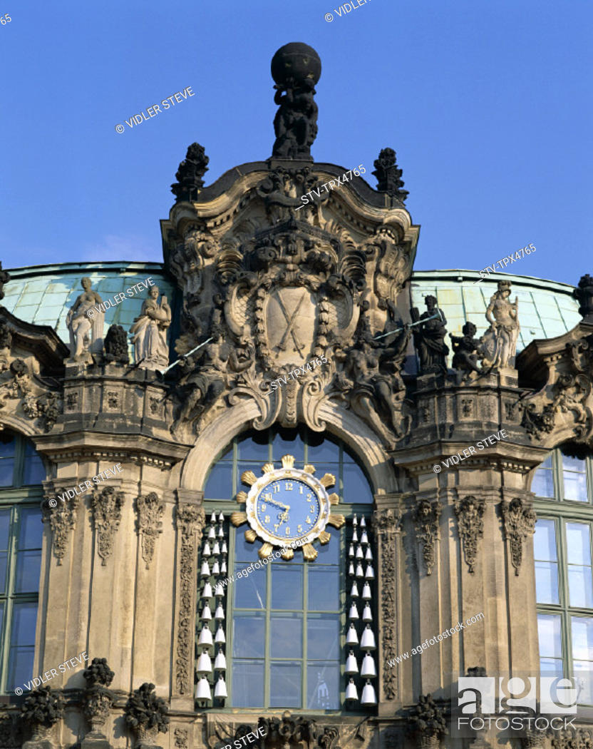 Imagen: Detail, Dresden, Germany, Europe, Holiday, Landmark, Saxony, The, Tourism, Travel, Vacation, Wallpavillon, Zwinger,.